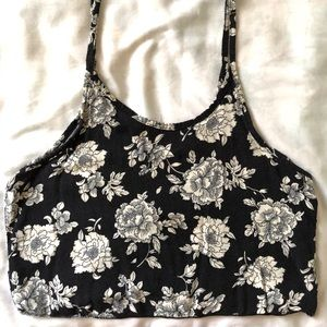 BRANDY MELVILLE - Floral Cropped Tank - OS